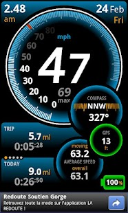 Ulysse Speedometer - screenshot thumbnail