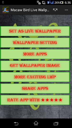 Macaw Bird Live Wallpaper