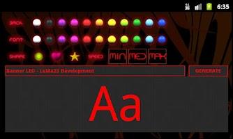 Screenshot of Banner LED Lite