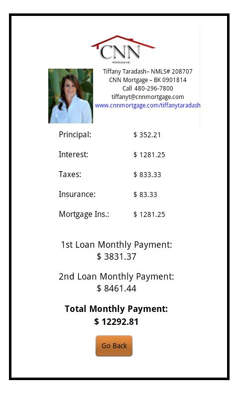 Justin Whalen's Mortgage Cal - screenshot