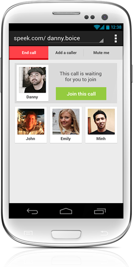 Speek - Free Conference Call- screenshot
