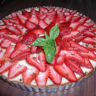 Sherry Basil Strawberry Tart.