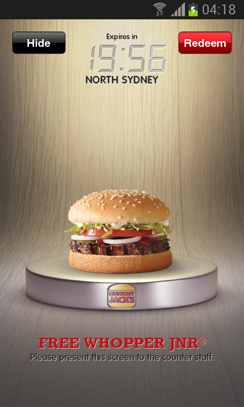 Hungry Jack's® Shake & Win App - screenshot