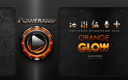 Poweramp skin orange magic