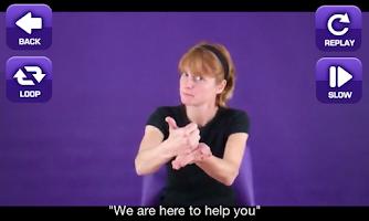 Screenshot of ASL Emergency Signs