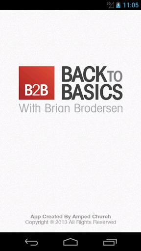【免費生活App】Back2Basics - Brian Brodersen-APP點子