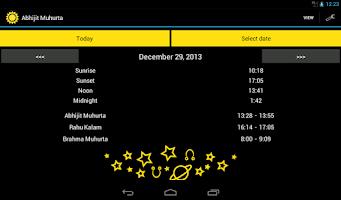 Screenshot of Abhijit Muhurta