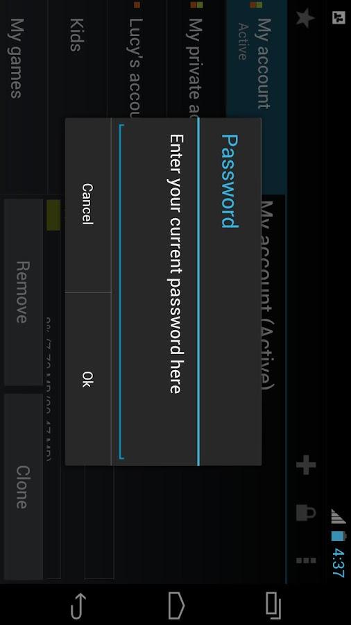 SwitchMe Multiple Accounts Key - screenshot