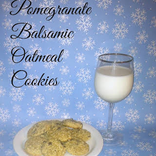 Pomegranate Balsamic Oatmeal Cookies.