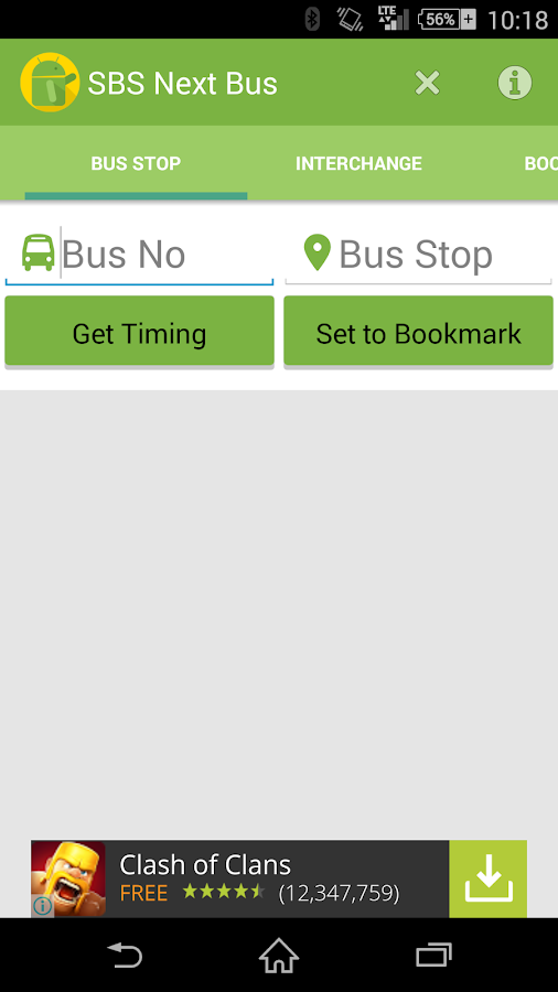 Next Bus@SG (fka SBS Next Bus) - screenshot