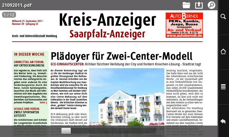 Kreisanzeiger- screenshot