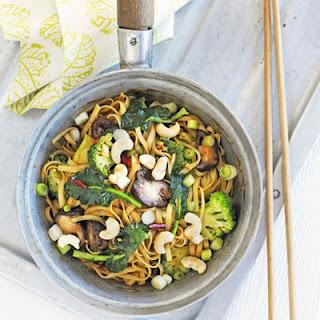 Spicy Mushroom & Broccoli Noodles.