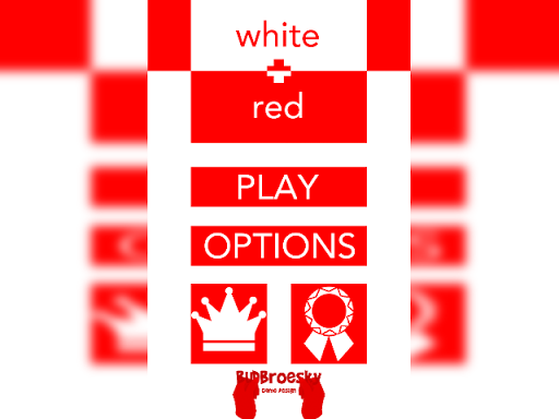 white + red