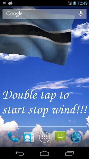 3D Botswana Flag LWP