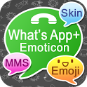 What'sApp+ Emoticon◀Skin▶Emoji icon