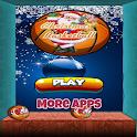 Christmas basket ball icon