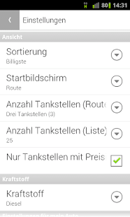 Spritpreis Route - screenshot thumbnail