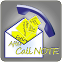After Call Note & More icon