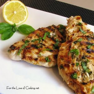 Pesto Marinated Chicken Breasts