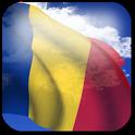 3D Romania Flag icon