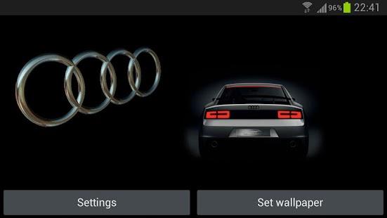 Audi Logo Wallpaper 3d: Download 3D AUDI Logo HD Live Wallpaper Google Play