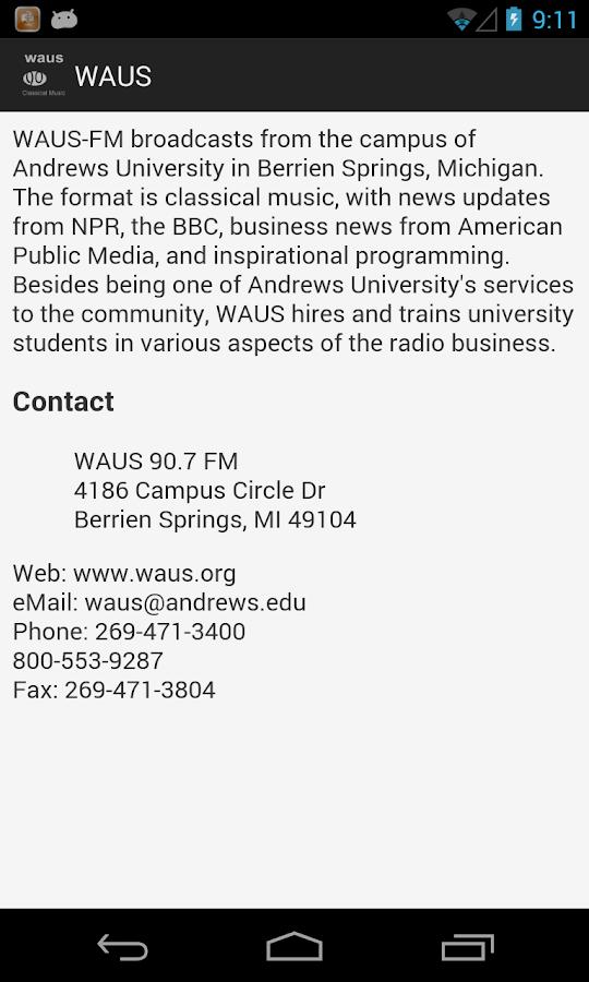 WAUS - screenshot
