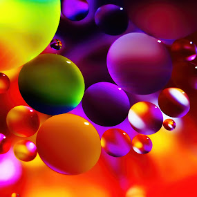 Candy Planets by Carole Pallier  - Abstract Macro ( abstract, circles, macro, orbs, spheres, colours )
