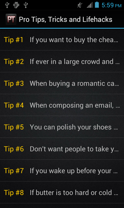 Pro Tips, Tricks and Lifehacks - screenshot