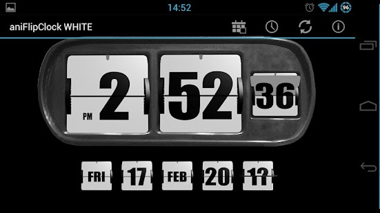 3D Animated Flip Clock WHITE - screenshot thumbnail