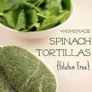Homemade Gluten Free Spinach Tortillas.