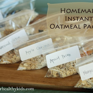 Homemade Instant Oatmeal Packets.