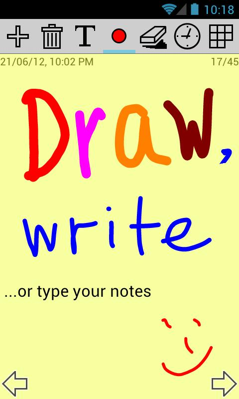 apMemo Lite - Graphic Notepad- screenshot