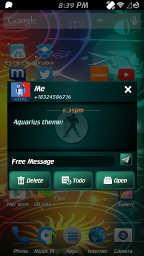 Aquarius Theme for GO SMS