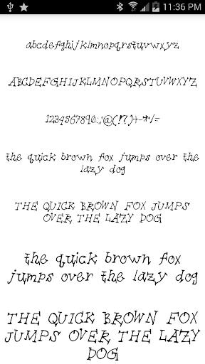 Fonts for FlipFont 20