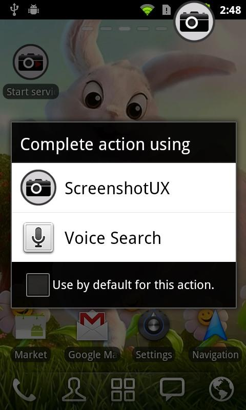 Screenshot UX - screenshot