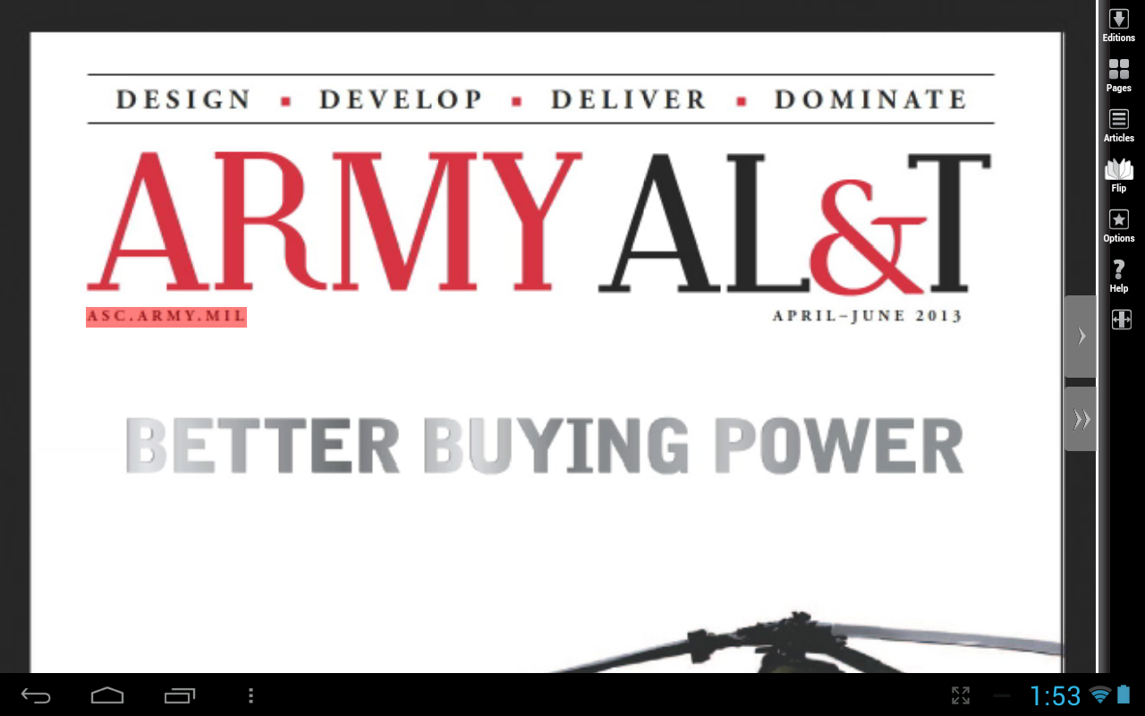 Army AL&T Magazine - screenshot