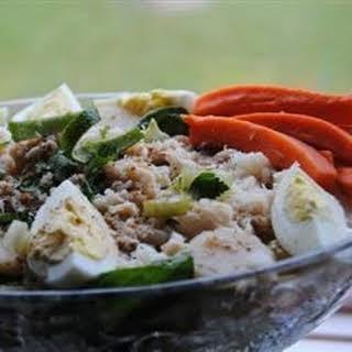 Watercress and Crab Salad.