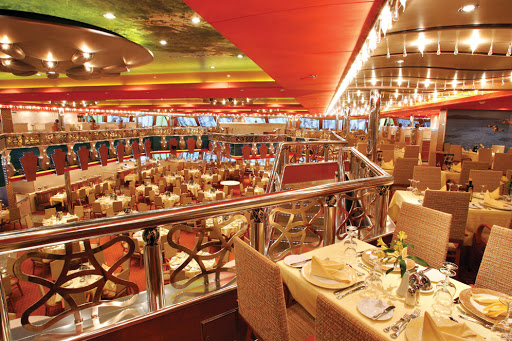 Costa-Magica-restaurant - Costa Magica passengers can choose from four dining rooms.