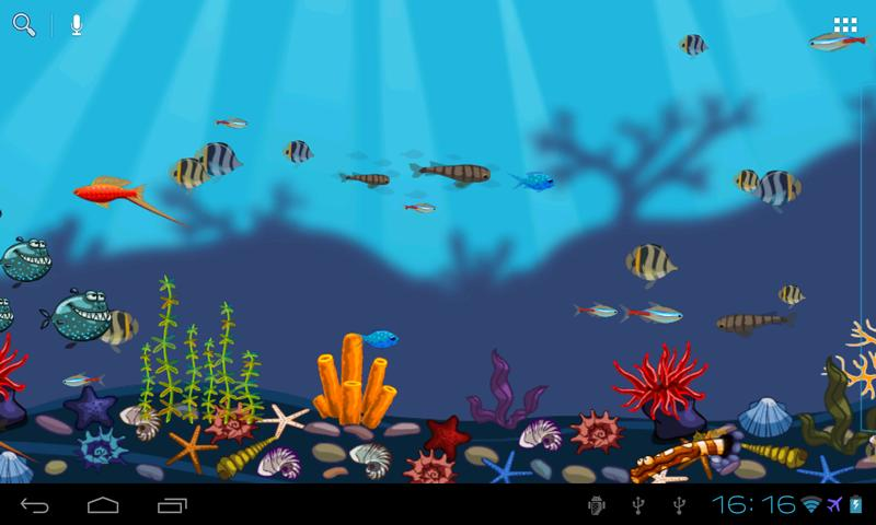 Aquarium Live Wallpaper Free- screenshot