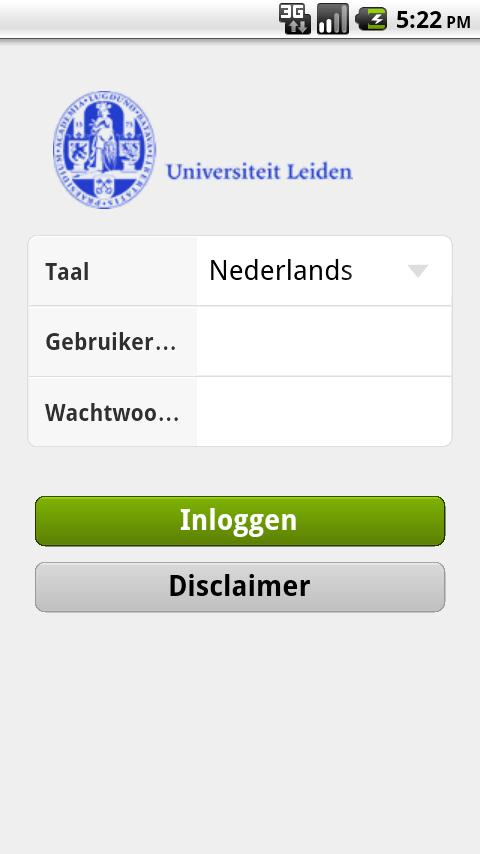 Leiden Univ - screenshot