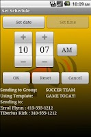 Screenshot of Group SMS Broadcaster