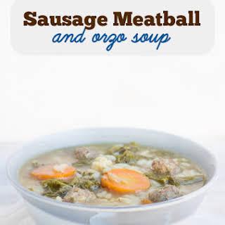 Sausage Meatball and Orzo Soup.