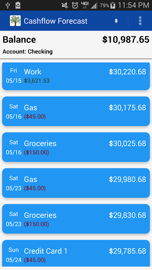 Cash Flow Droid- screenshot