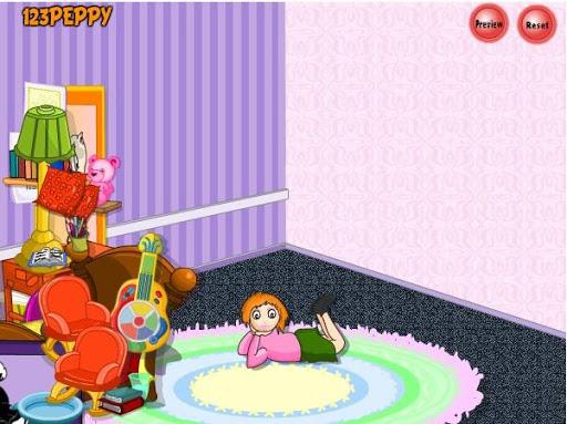 游戏的女孩的卧室