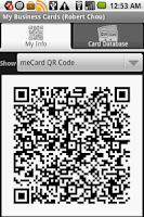 Screenshot of My Business Cards