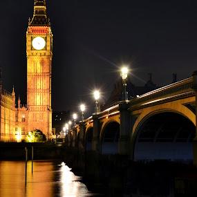 Parliament UK by Matt Hulland - City,  Street & Park  Night ( uk, london, thames, big ben, bridge )