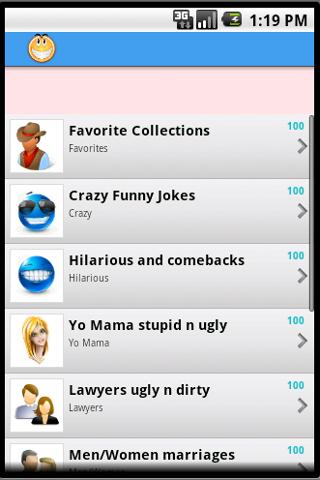 1001 funny jokes of all time- screenshot