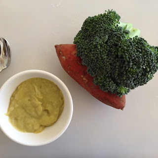 Broccoli and Yam Puree
