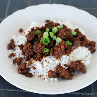 Easy Korean Beef and Rice {Ground Beef Recipe}.