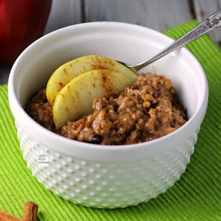 Slow Cooker Apple Cranberry Steel Cut Oats